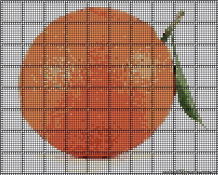 Вышивка крестом апельсин
