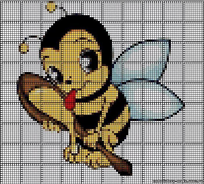 Схему вышивки крестом пчелка 8