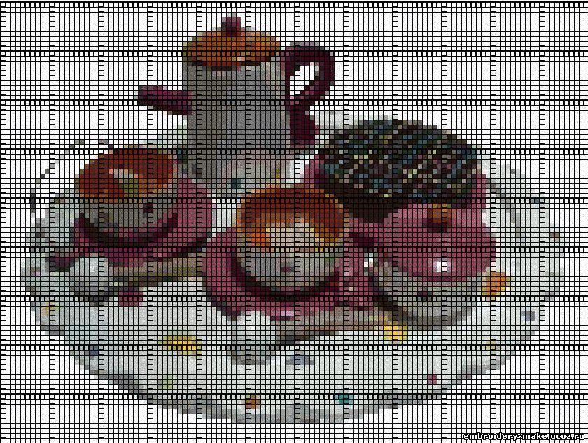 чай вышивка схемы крестом скачать