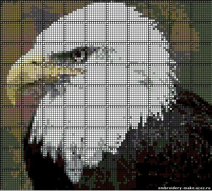 Орел схема вышивки