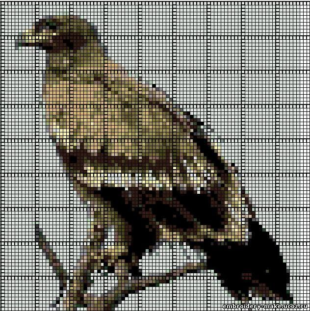 Схемы вышивки крестом орёл