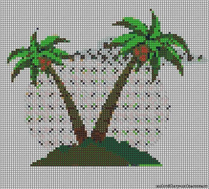 Пальма вышивка