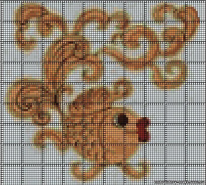 Схемы для вышивки бисером золотая рыбка 88