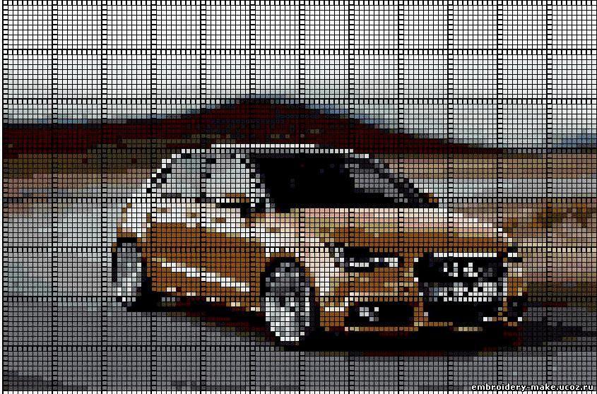 Автомобиль схема вышивки крестом 66