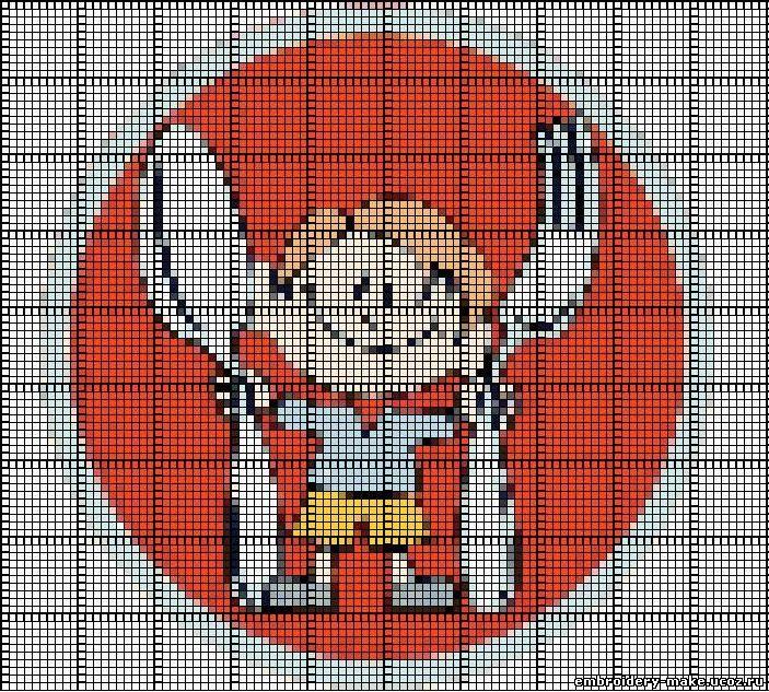 Схема для вышивки эмблемы 708