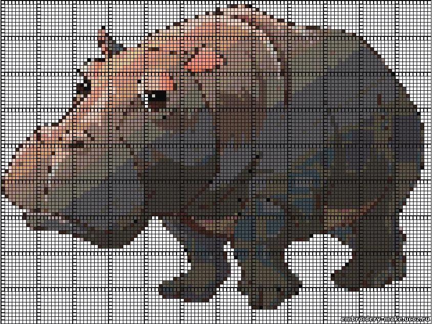 Схема вышивки бегемота 2